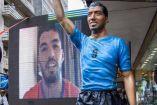 Así luce la escultura de Suárez en las calles de Uruguay