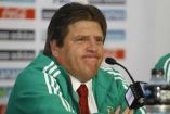 Miguel Herrera en rueda de prensa