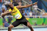 Usain Bolt festeja su medalla Usain Bolt festeja el Oro en la Final de los 200m Río 2016oro en la Final de los 200m Río 2016