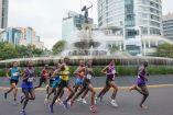 Corredores de distintas nacionalidades durante la última edición de la Maratón CDMX
