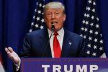 Trump durante un discurso presidencial