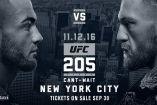 Cartel de la pelea principal del UFC 205