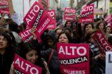 Mujeres portestas en contra de la violencia de género
