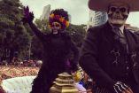 Catrinas durante el desfile en la CDMX