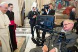 Hawking, en reunión con el Papa Francisco