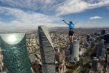 Alexander Schulz rompe récord de altura y distancia de Highline urbano