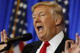 Donald Trump durante un debate