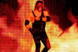 Kane, previo a un combate en la WWE
