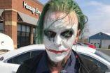 Sujeto disfrazado de Joker que fue arrestado en Virginia, EU