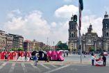 El zócalo capitalino ya luce la imagen del Maratón de la CDMX
