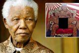 Mandela, serio en una fotografía