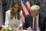 Melania y Donald Trump durante su visita a Israel