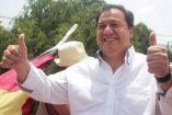 Oscar González Yáñez, durante un acto de campaña