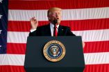 Trump habla con las tropas militares en Sigonella, Italia