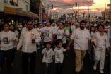 Vecinos de Nezahualcóyotl en la marcha #JusticiaParaValeria