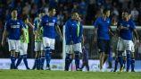 Jugadores del Cruz Azul, durante el partido contra Veracruz