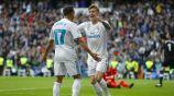 Kroos y Vazquez celebran gol con el Real Madrid