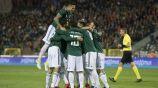 Tri celebra un gol contra Bélgica