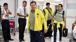 Miguel Herrera a su llegada al Aeropuerto de la CDMX
