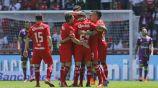 Toluca celebra gol de Barrientos