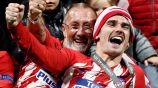 Griezmann celebra el título de Europa League con el Atleti
