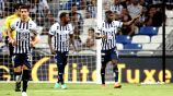 Monterrey celebra gol frente a Santos de Brasil