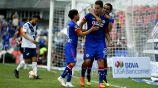 Cruz Azul festeja gol de Caraglio vs Puebla