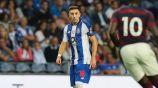 Héctor Herrera, en el juego contra Newcastle