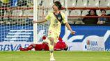 Diego Lainez festeja un gol ante Pachuca
