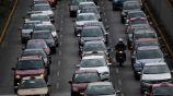 Tráfico en una avenida de la CDMX