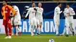 Lokomotiv de Moscú celebran gol ante Galatasaray