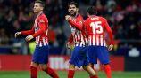 Costa celebra una anotación con el Atlético en La Liga