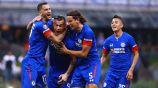 Jugadores de Cruz Azul celebran un gol en el A2018