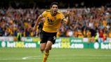 Jiménez festeja un gol con los Wolves