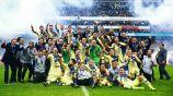 América celebra tras conquistar el título del Apertura 2018