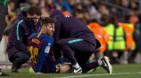 Messi es atendido tras sufrir molestias en el juego vs Valencia