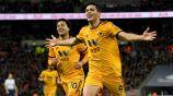 Raúl Jiménez festeja gol con Wolves