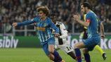 Griezmann conduce el balón ante la persecución de Matuidi