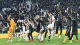 Juventus festejando una victoria