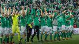 Los jugadores del Werder Bremen festejan una victoria