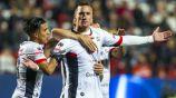 Leo Ramos festeja uno de sus goles ante Xolos