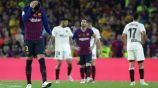 Piqué y Messi se lamentan en la Copa del Rey