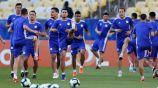 Jugadores de Paraguay se ejercitan en una práctica