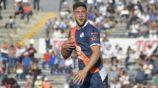 Lucas Cavallini festeja un gol con el Puebla