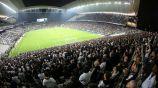 Aficionados del Corinthians durante un partido
