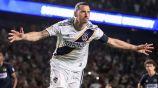Zlatan Ibrahimovic celebra un tanto con el Galaxy