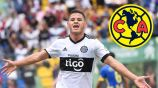 Richard Sánchez festeja un gol con el Olimpia