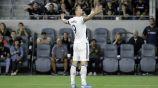 Zlatan, en festejo de gol durante un partido