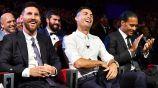 Leo Messi, Cristiano Ronaldo y Virgil Van Dijk en la gala de la UEFA