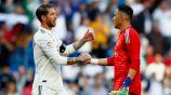 Sergio Ramos y Keylor Navas tras un partido con el Real Madrid